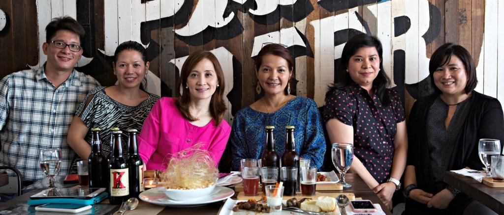 (L-R) Chef Bobby Abes, Chef Ernestine Abes, Nina Daza-Puyat, Marie Pascual, Nana Ozaeta, Marilen Fontanilla