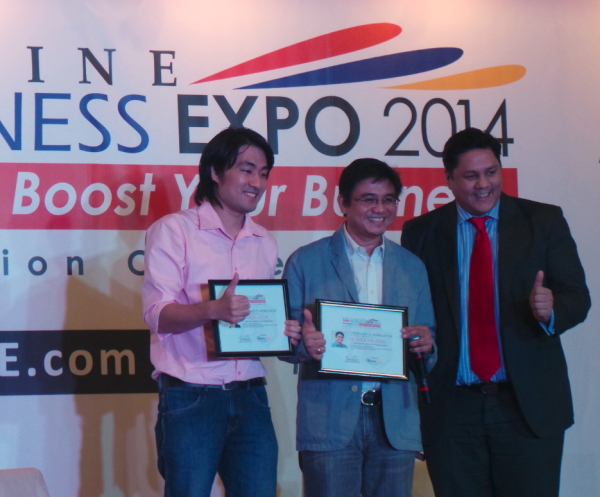 [L-R] Charles Licup (CEO, WebGuru), Homer Nievera (Founder, Negosentro.com) and David Abrenilla (Founder, Mediacom Solutions)