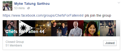 The Facebook Group where efforts are being coordinated.