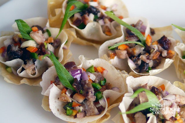 Sisig in Wonton Cups from Bale Dutung