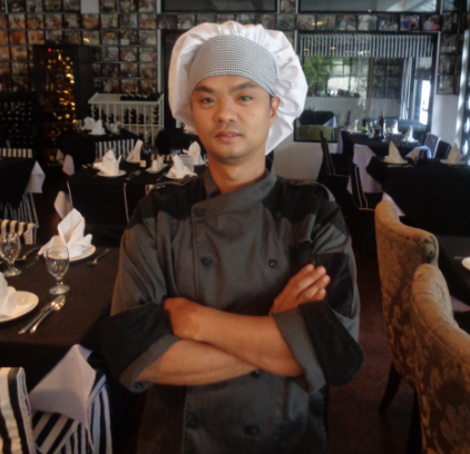 Chef Jomel of the Hot section kitchen and bar