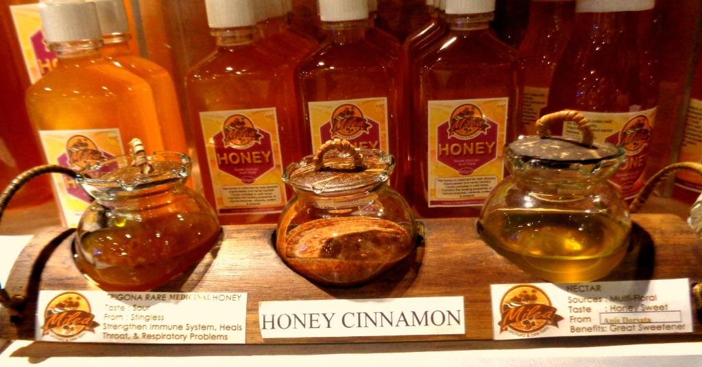 Free taste of Organic Stingless Bee Trigona Honey, Honey Cinnamon and Nectar