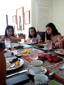 Family breakfast