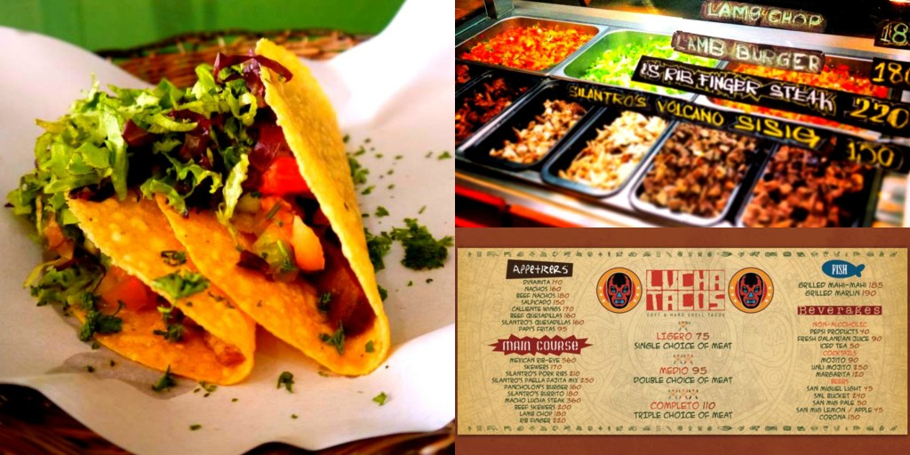 Lucha Tacos Specialty Menu