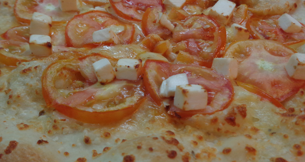 Yellow Cab Four Cheese and Tomatoes Pizza