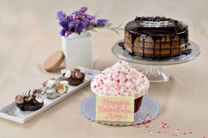 Sweets for your Sweet - B&P Heart-shaped S'mores, Naked   Valentine Cupcake Shortcake and Naked Chocolate Caramel Cake