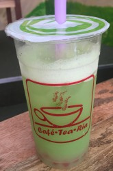 cafe tea ria, yakult mix, popping boba