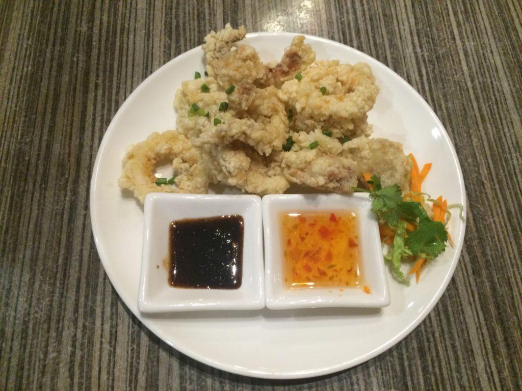 authentic thai food, Siam Noodle House, Noodle Soup, calamares
