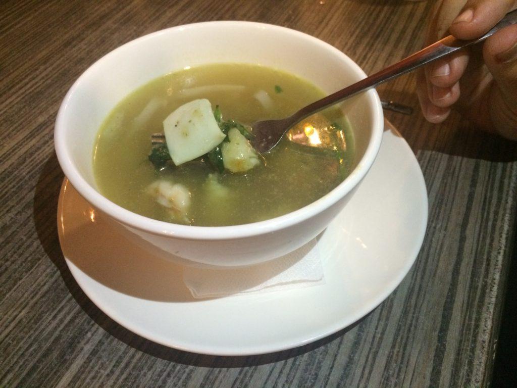 Seafood Green Curry Noodles, authentic thai food, Siam Noodle House, Noodle Soup,