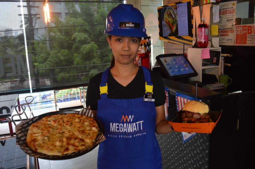 MEGAWATT Pizza Chicken Burrito