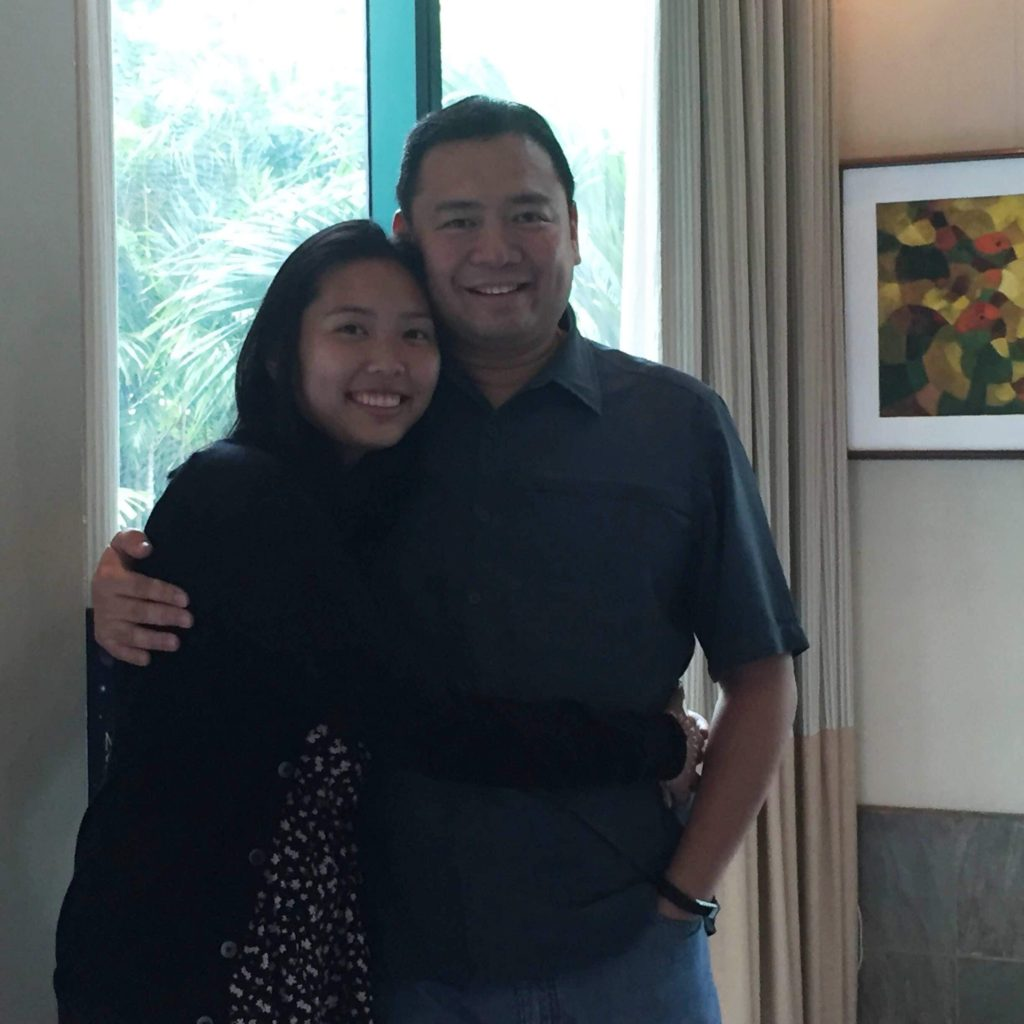 Paco Magsaysay and daughter Carmen
