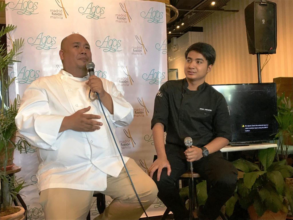 "Chefs Myke ""Tatung"" Sarthou (left) and Chef Patrick Constantino (right)"