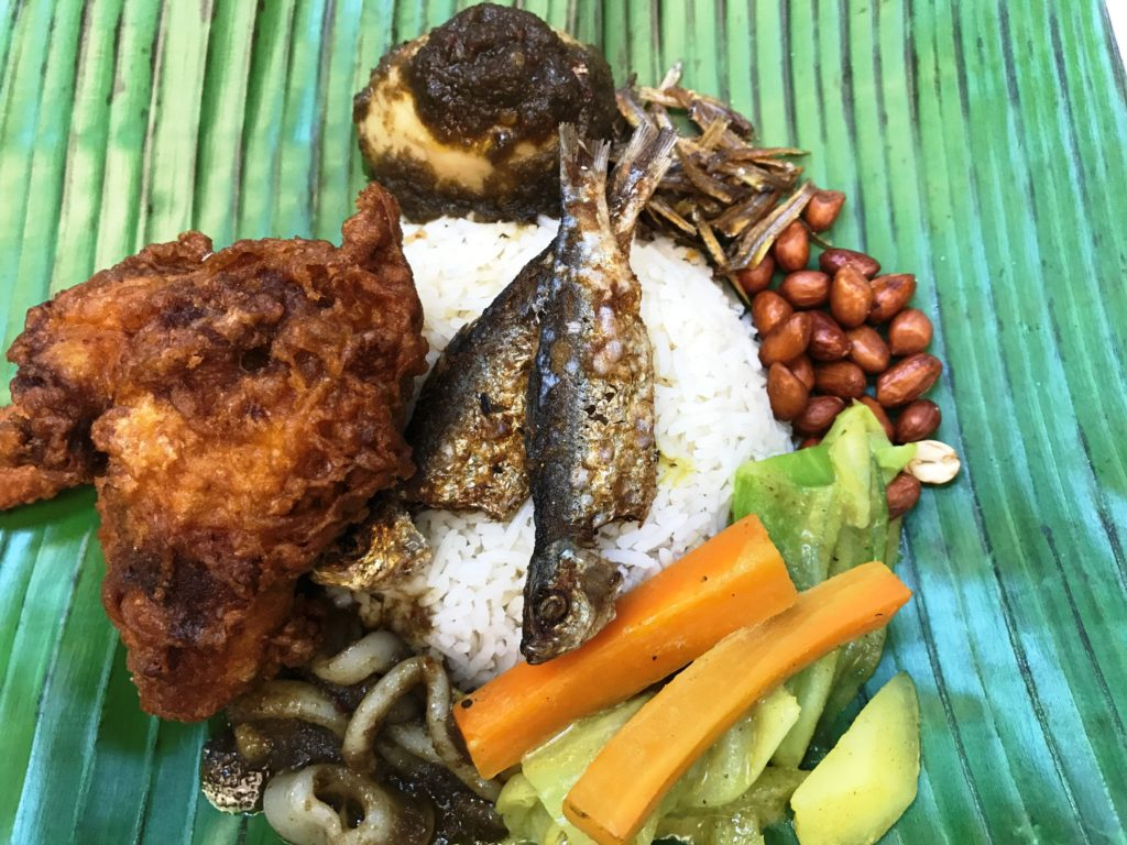 Nasi Lemak is an authentic Malaysian-Singaporean dish
