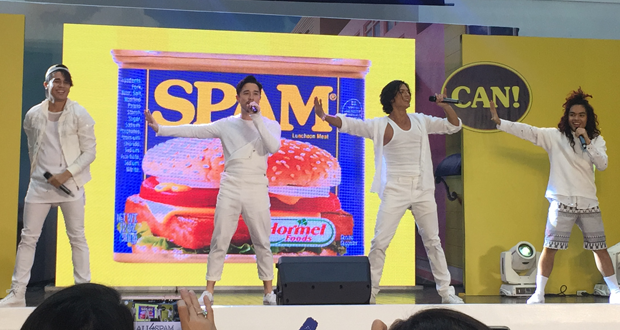 SPAM®, SPAM-CAN!, Spam-Recipes, Children's-Hour, Trivia-about-Spam, ALL4SPAM, filipino-boyband