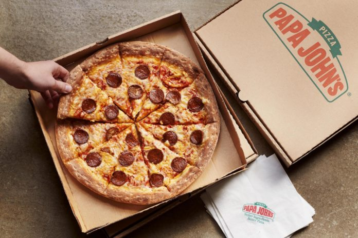 food delivery papa johns pizza