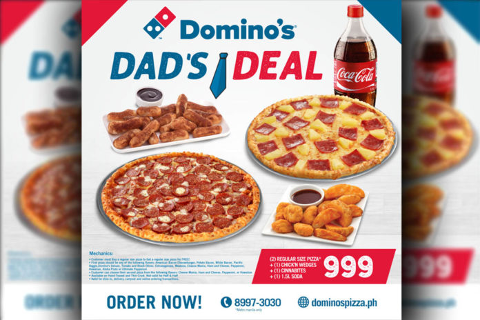 Father's Day Promo Domino's Pizza Philippines - Food Finds Asia