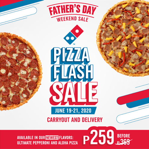 Dominos Pizza Philippines Father's Day Pizza Flash Sale - Food Finds Asia