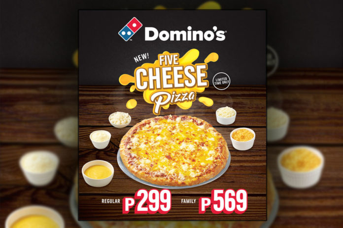 Domino's Pizza Philippines 5 cheese Pizza - Food Finds Asia