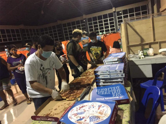Domino's Pizza PH Delivers To Evacuees of Typhoon Ulysses - Food Finds Asia