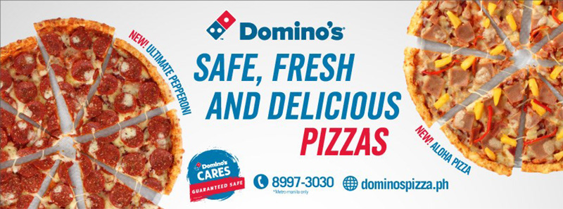 Dominos Pizza Safe fresh and Delicious